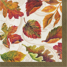 Colors of the Wind 16 Luncheon Napkins Thanksgiving Fall Leaves