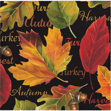Autumn Expressions 16 Ct Beverage Napkins Thanksgiving Leaves