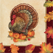 Turkey Traditions 16 Ct Luncheon Napkins Thanksgiving Banquet