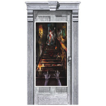 Haunted Mansion Plastic Door Poster Halloween Party Decoration