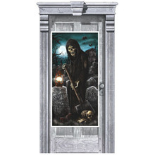 Cemetery Plastic Door Poster Halloween Party Decoration