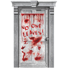 Asylum Dripping Blood Plastic Door Poster Halloween Party Decoration