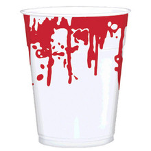 Asylum Blood Spattered 16 oz Cups 25 ct Plastic Halloween