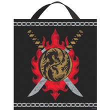 "Ninja Deluxe Halloween Treat Loot Party Tote Bag 15"" x 13"""