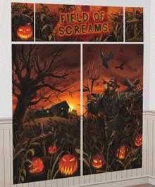 Field Of Screams Scene Setters Wall Decoration Kit Halloween Cornfield