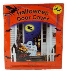 Halloween Door Cover 30 x 72 Ghost Witch Haunted House