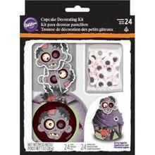 Zombie Decorating Kit Baking Cupcake Liners Picks Eyes  Wilton makes 24