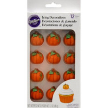 Pumpkin Royal Icing Decorations 12 Ct Wilton