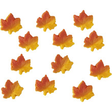 Autumn Ombre Leaf Mini Royal Icing Decorations 24 Ct Wilton