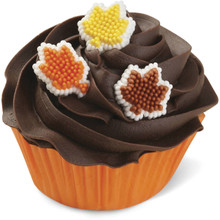 Autumn Leaf Dot Matrix Icing Decorations 12 Ct Wilton