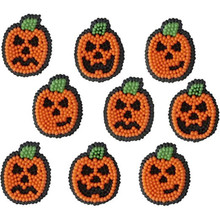 Jack O Lantern Faces Dot Icing Decorations 12 Ct Wilton Halloween