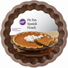 Wilton 9 in Chocolate Wave Pie Pan Non Stick