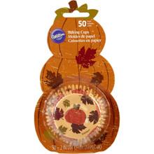 Fresh Baked Baking Cups 50 Ct Cupcake Liners Wilton Pumpkin Backer