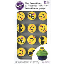Emoji Royal Icing Decorations 12 Ct Wilton