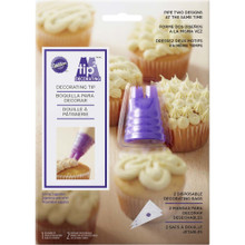 Duo Piping Tip Set Tip2 Wilton Decorating Tip and 2 Bags