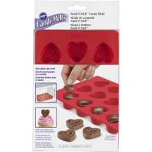 Hearts Silicone Stack N Melt Mold 12 Cavity Candy Treat Wilton