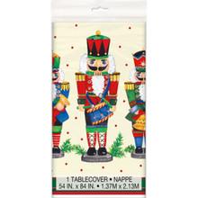 Nutcracker Soldier Christmas 54 x 84 Tablecover Plastic