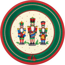 "Nutcracker 8 Paper Lunch Dinner 9"" Plates Soldier Christmas"