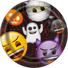 "Emoji Halloween 8 Ct Paper 9"" Lunch Dinner Plates"