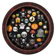 "Emoji Halloween 8 Ct Paper 7"" Dessert Cake Plates"