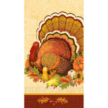 Give Thanks 16 Ct Guest Napkins Turkey Thanksgiving