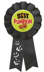Best Pumpkin Award Ribbon Badge Halloween Party