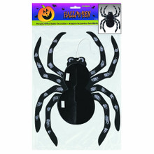 Glitter Spider Hanging Halloween Decoration 14""
