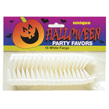 Vampire Fangs Teeth White Halloween 18 Ct Party Favors