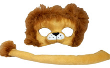 Child Lion Costume Plush Mask and Tail Set