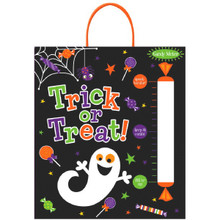 "Candy Meter Deluxe Halloween Treat Loot Party Tote Bag 16"" x 14"" Ghost"