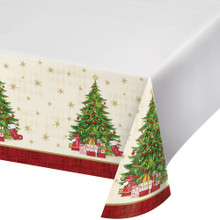 Tasteful Tree Tablecover 54 x 102 Christmas Holiday Tablecloth