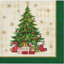 Tasteful Tree 16 Ct Beverage Napkins Christmas Holiday