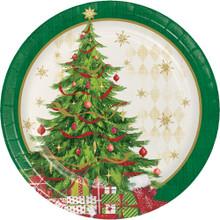 "Tasteful Tree 8 Ct 7"" Dessert Cake Plates Christmas Holiday"
