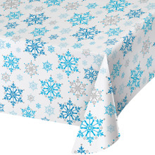 Snowflake Swirls 54 x 102 in Tablecover Christmas Holiday All Over Print