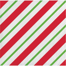 Peppermint Party 16 Ct Beverage Napkins Christmas Holiday Office