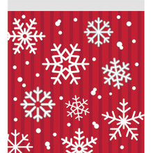 10 Christmas Snowflakes Treat Sandwich Zip Party Bags