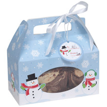 Snowman Cookie Treat Boxes with Handles and Gift Tags 4 Ct Box