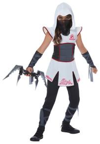 Fearless Ninja Warrior Halloween Costume Child L 10-12 White