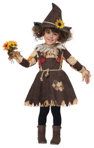 Pumpkin Patch Scarecrow Halloween Costume Toddler 4-6 Dress Hat