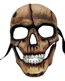 Demon Skull with Hinged Jaw Brown Black Halloween Mask