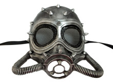 Chemical Gas Steampunk Skull Brushed Silver Halloween Mask