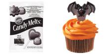 Wilton Candy Mold Bat Cupcake Picks with Black Melts 10 oz Value Pack