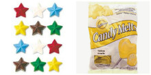 Value Pack Stars Mold AND 13 oz Bag Yellow Candy Melts Wilton