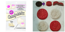 Value Pack Wilton White 13 oz Candy Melts Bag and Snowflake Cookie Mold