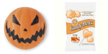 Value Pack Wilton Scary Jack O'Lantern Candy Mold AND 13 Oz Melts Orange