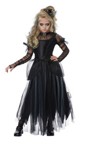 Dark Princess Halloween Costume Girl Child M 8-10 Black