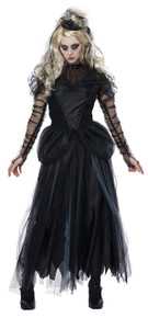 Dark Princess Halloween Costume Adult Women L  10-12 Black