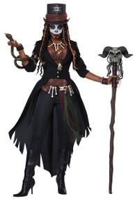 Voodoo Magic Queen Halloween Costume Adult Women L 10-12 Black