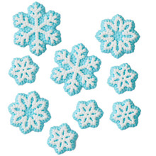 Snowflakes Christmas Dot Matrix Icing Decorations 18 Ct Wilton