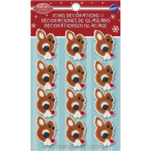Rudolph The Reindeer Christmas Dot Matrix Icing Decorations 12 Ct Wilton